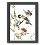 Americanflat Mountain Chickadee by Suren Nersisyan Framed Painting Print