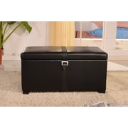 NOYA USA Classic Storage Bedroom Bench; Black