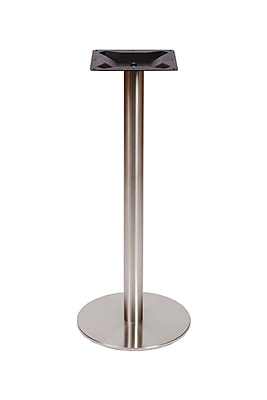 BFMSEATING Elite Bar Height Table Base; 18'' W x 18'' D