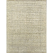 Pasargad Modern Contemporary Transitional Hand-Knotted Silk and Wool Light Gold Area Rug