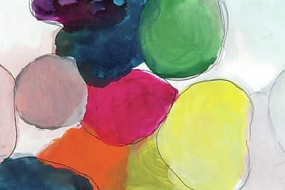 Empire Art Direct 'The Party Abstract' Watercolor Painting Print on Glass