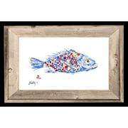 FishAye Trading Company 'Rainbow Fish' by JFD Framed Painting Print