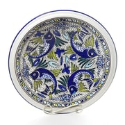 Le Souk Ceramique Aqua Fish Design Large Serving Bowl
