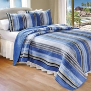Greenland Home Fashions Cotton 2 Piece Quilt Set; King