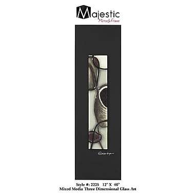 Majestic Mirror Stylish Painted Glass Panel Abstract Painting Print on Wrapped Canvas