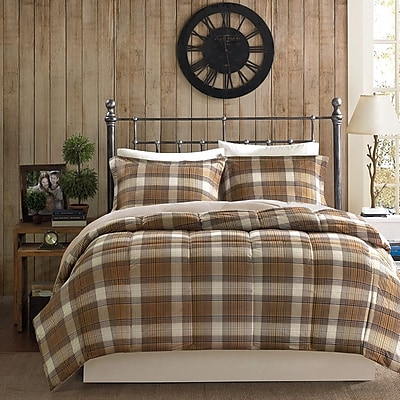 Woolrich Lumberjack Down Alternative Reversible Comforter Mini Set; Twin