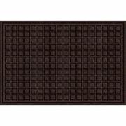 Apache Mills Textures Blocks Doormat; Walnut