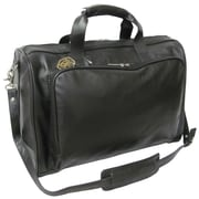 AmeriLeather 18'' Leather Weekender Duffel; Black