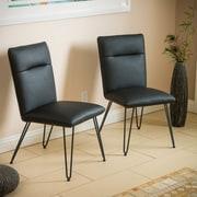 Home Loft Concepts Vellore Side Chair (Set of 2); Black