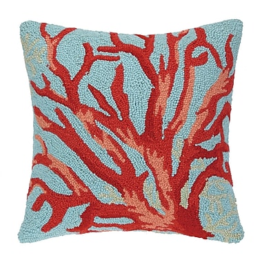 Laurel and Mayfair Sealife Coral Hook Wool Throw Pillow