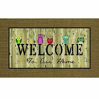 Apache Mills Masterpiece Welcome Owls Doormat