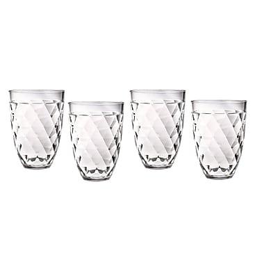 Chenco Inc. Diamondback 12 Oz. Tumbler Glass (Set of 4)