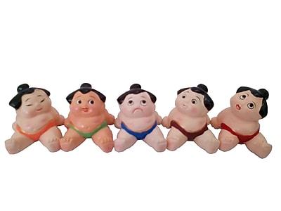 Sintechno Inc 5 Piece Cute Sumo Wrestler Chopstick Holder Set