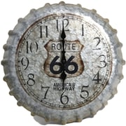 Taylor Springfield 14.2'' Route 66 Bottle Cap Wall Clock