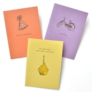 Gartner Greetings Boutique Greeting Cards, 3 pack- Birthday