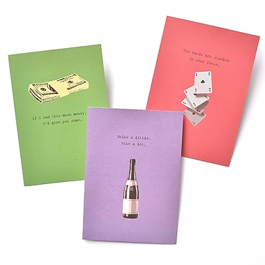Gartner Greetings Boutique Greeting Cards, 3 pack - Birthday, Your Party