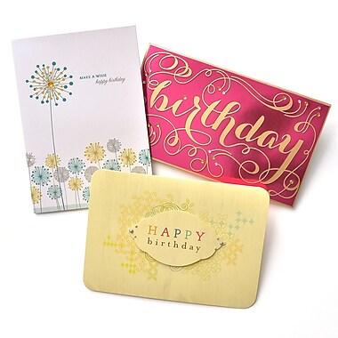 Gartner Greetings Premium Greeting Cards, 3 pack - Birthday, May Your Dreams Come True