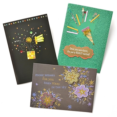 Gartner Greetings Premium Greeting Cards, 3 pack - Birthday, Celebration Continue