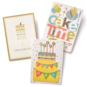 Gartner Greetings Premium Greeting Cards, 3 pack - Birthday Slice