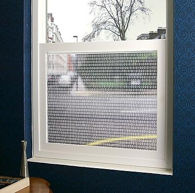 Stick Pretty Bits and Bytes Sheer Window Film; 36'' x 48''