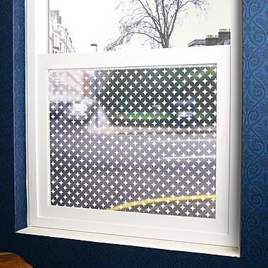 Odhams Press Diamonds Sheer Decorative Window Film; 48'' x 84''