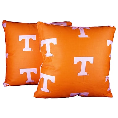 College Covers NCAA Tennessee Cotton Throw Pillow (Set of 2)