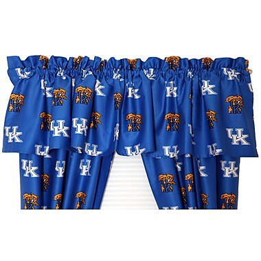 College Covers NCAA Kentucky Printed Rod Pocket Curtain Valance
