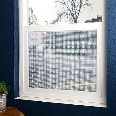 Odhams Press Egyptian Weave Sheer Window Film; 48'' x 84''