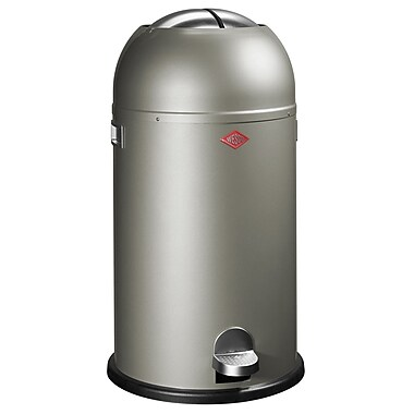 Wesco Kickmaster 7.5 Gallon Step On Trash Can; New Silver