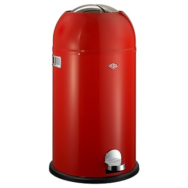 Wesco Kickmaster 7.5 Gallon Step On Trash Can; Red