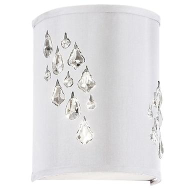 Dainolite Rhiannon 2-Light Left Crystal Wall Sconce; White