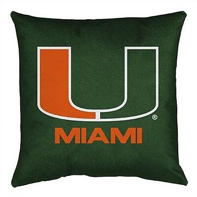 Sports Coverage NCAA Miami Throw Pillow