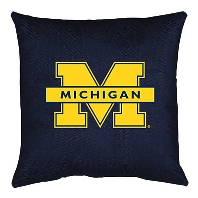 Sports Coverage NCAA Michigan Throw Pillow