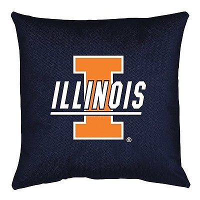 Sports Coverage NCAA Illinois Throw Pillow