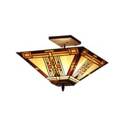 Chloe Lighting Gode 2-Light Semi-Flush Mount