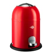 Wesco Single Master 2 Gallon Step On Trash Can; Red