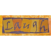 Green Leaf Art Laugh Textual Art on Wrapped Canvas