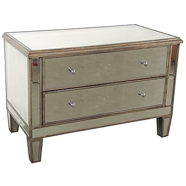 A&B Home 2 Drawer Mirrored Chest