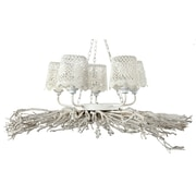 A&B Home 5-Light Shaded Chandelier