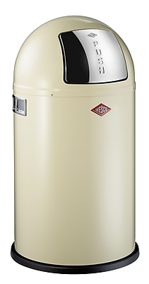 Wesco Pushboy Junior 5 Gallon Swing Top Trash Can; White