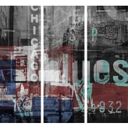 TAF DECOR Chicago Style 1 3 Piece Graphic Art on Wrapped Canvas Set