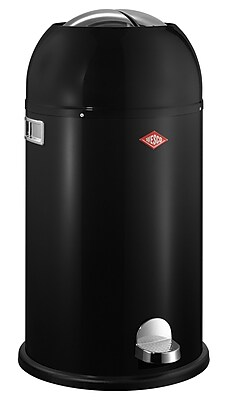Wesco Kickmaster 7.5 Gallon Step On Trash Can; Black