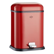 Wesco Singleboy 3.4 Gallon Step On Trash Can; Red