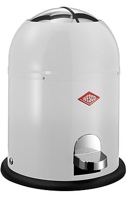 Wesco Single Master 2 Gallon Step On Trash Can; White