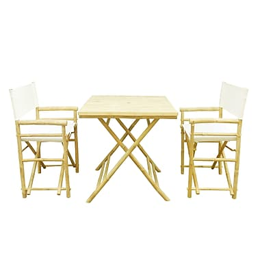 Buyers Choice Phat Tommy 3 Piece Bistro Set; Ivory