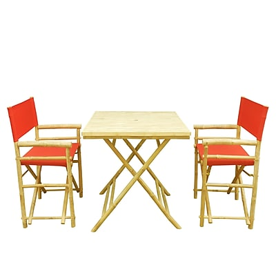 Buyers Choice Phat Tommy 3 Piece Bistro Set; Red
