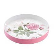 Shall Housewares Rose Round Serving Tray