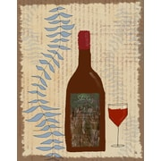Green Leaf Art Wine 1 Graphic Art on Wrapped Canvas