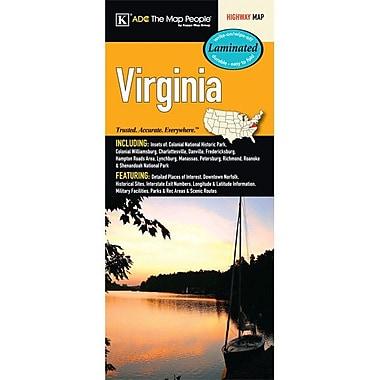 Universal Map Virginia Laminated Map