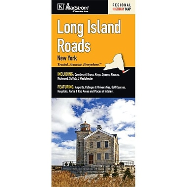 Universal Map Long Island Roads, New York Fold Map
